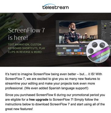 Screenflow 7 upgrade email