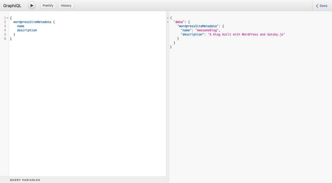 Graphql query to get siteName from WordPress
