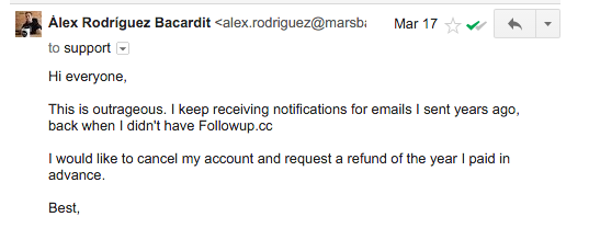 Followup.cc's email notifications