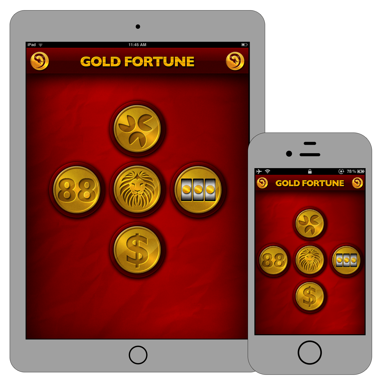 Gold Fortune iOS app preview