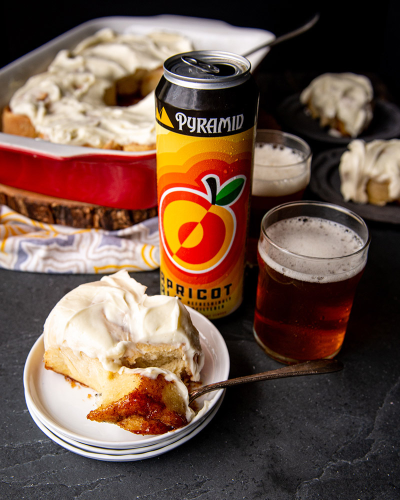 The best cinnamon rolls in the world are made with an Apricot beer