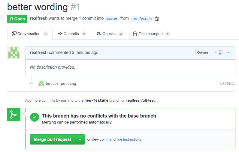 GitHub PR page