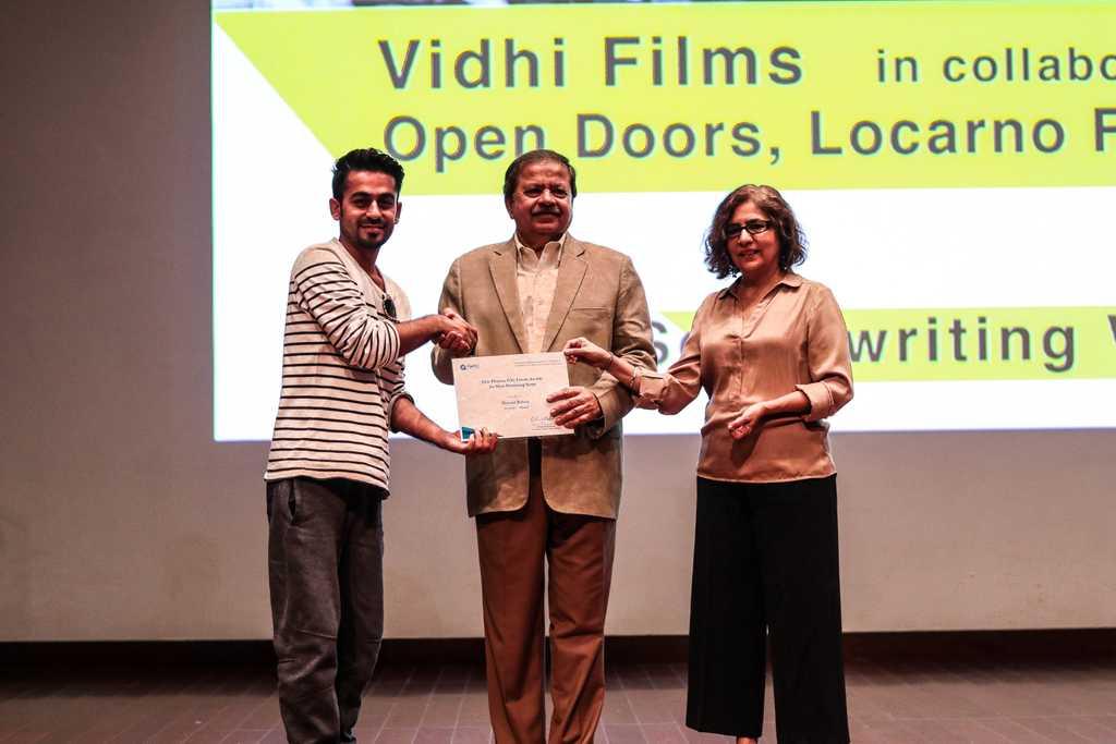Dostain Baloch wins best script in progress.