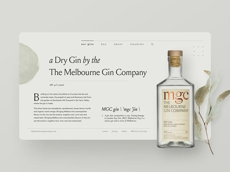 Gin distillery website exploration — part 01