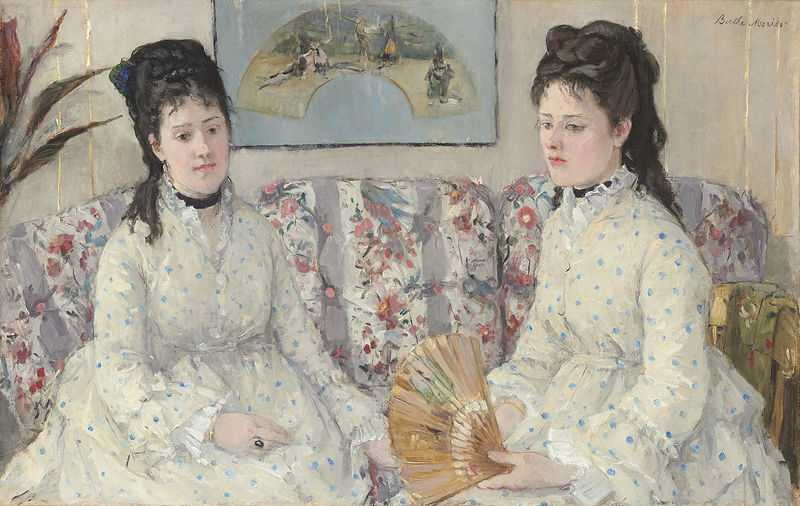 The Sisters painted by Berthe Morisot in 1869, National Gallery of Art