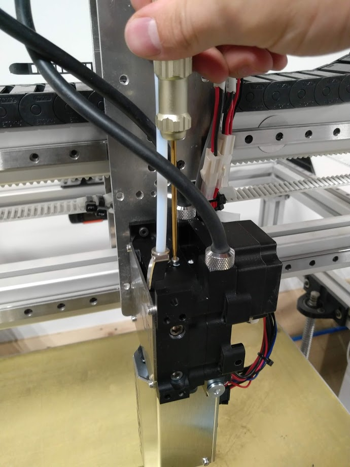 Removing screws on the top of Typhoon extruder