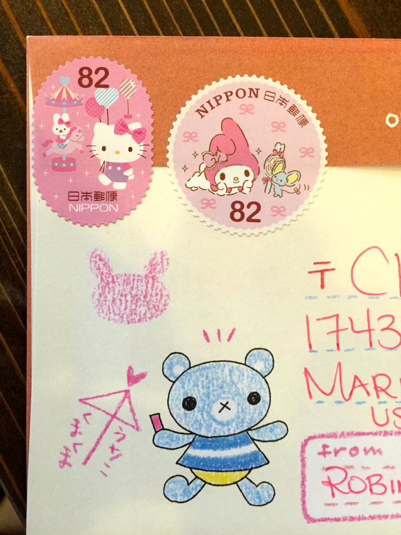 Hello Kitty Stamps in Tokyo