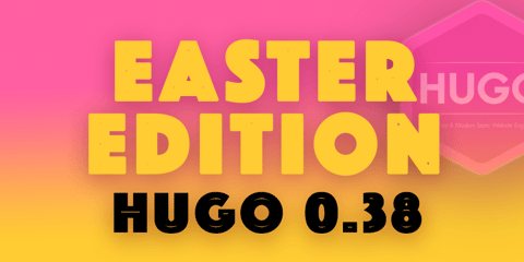 Featured Image for Hugo 0.38: The Easter Egg Edition