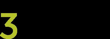 3dimensional Logo schwarz