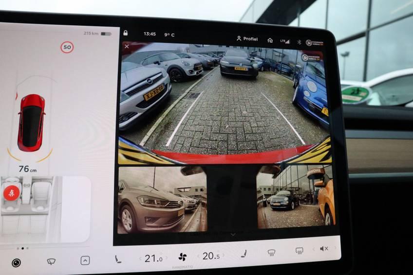 "Tesla Model 3 Long Range | prijs ex.btw 43.760,- | FSD! Rood Zwart Navigatie 18""LM 4% Bijtelling Privacy glas 351 PK! afbeelding 20"