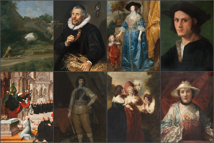 Collage of cropped artworks from the Northbrook Collection