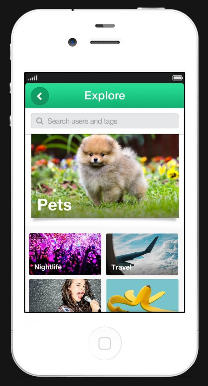 Vine mobile screenshot