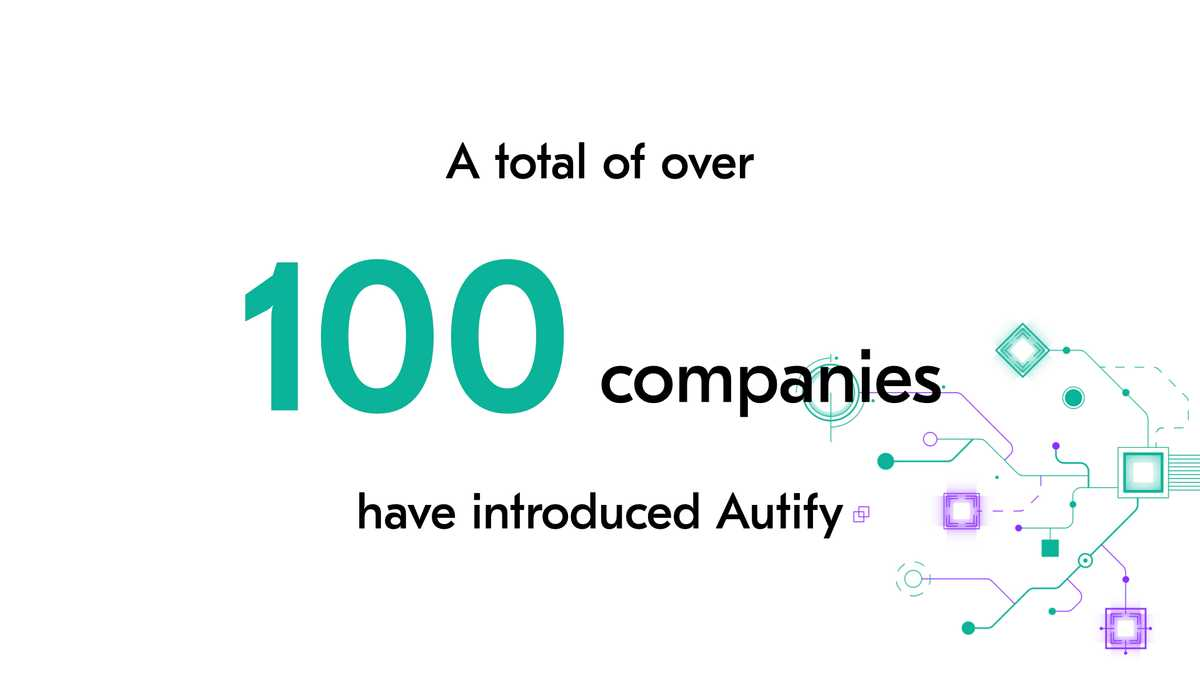 Total of over 100 companies introduced Autify