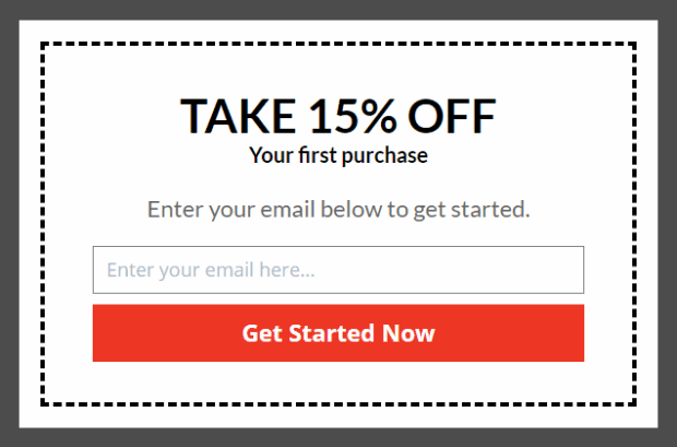 Take 15% off on first purchase
