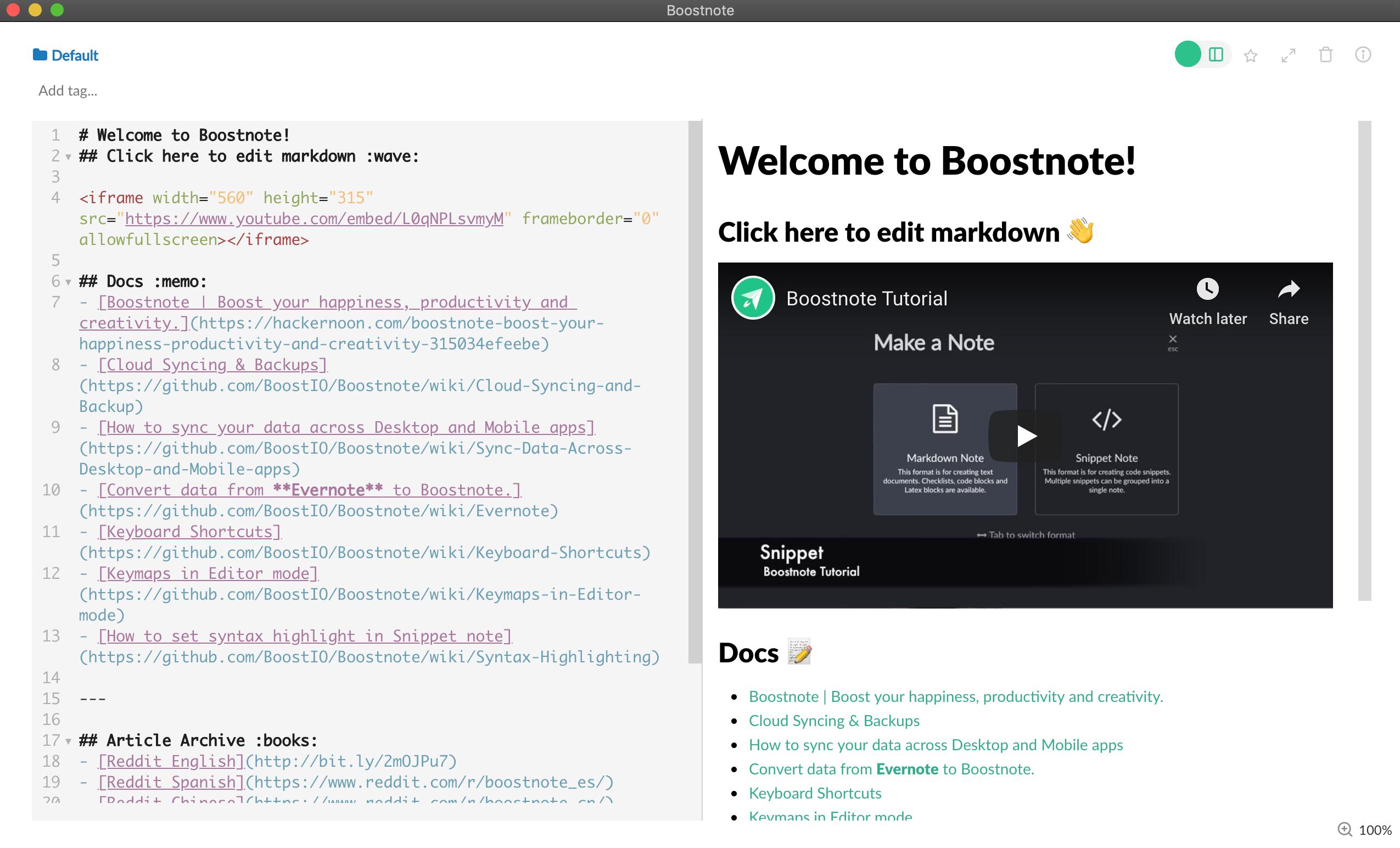 Boostnote Markdown application
