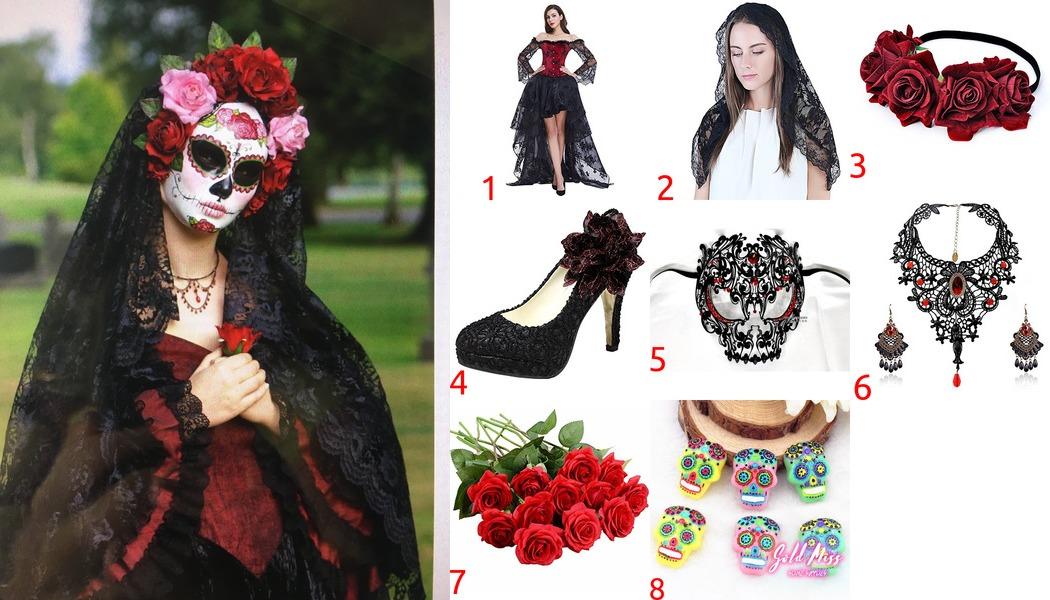La Calavera Catrina Costume for Cosplay & Halloween