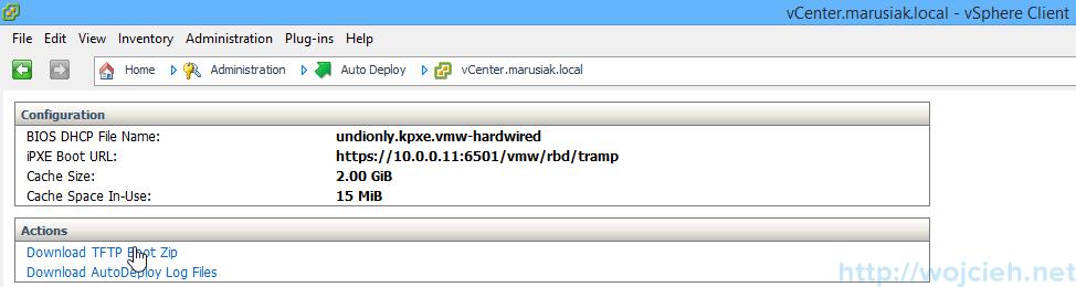 VMware vSphere Auto Deploy TFTPD64 - 4