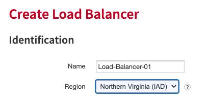 Cloud Load Balancer creation