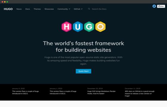 Webiste privew for hugo