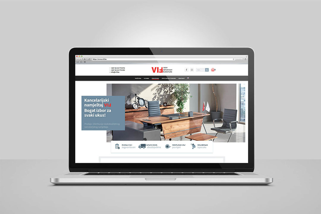 Project VIF Furniture, Website Design, E-Commerce, SEO Optimization, Digital Marketing