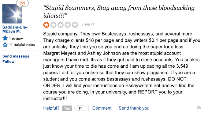 writers who works at essaymama.com are underpaid - review from sitejabber