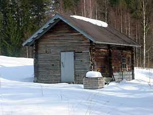 Smoke sauna in Enonkoski, Finland.