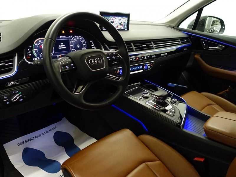 Audi Q7 3.0 TDI e-tron 374pk Quattro S-Line Autom- Bose, Virtual Cockpit, 360 Camera, Park Assist, Leer afbeelding 9