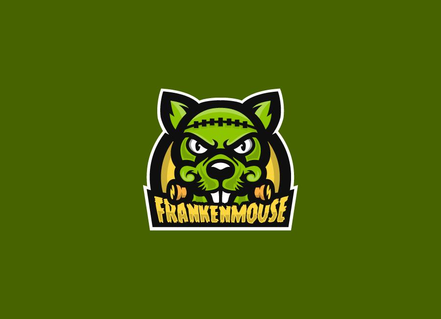 Frankenmouse mascot logo