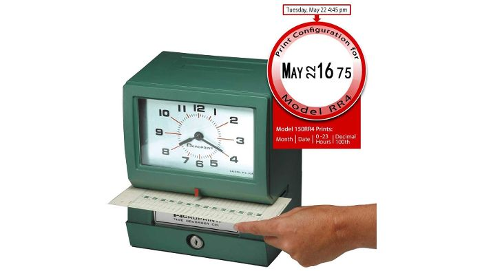 150RR4 Heavy-Duty Time Clock