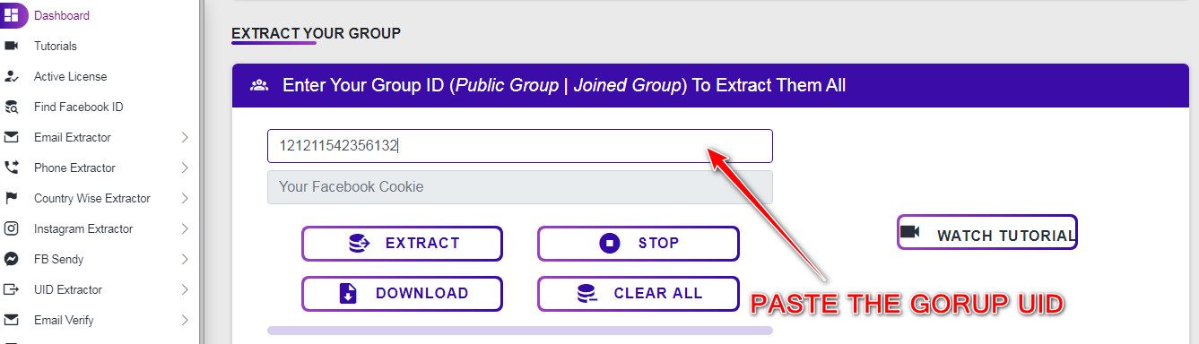 Facebook-Group-Extractor