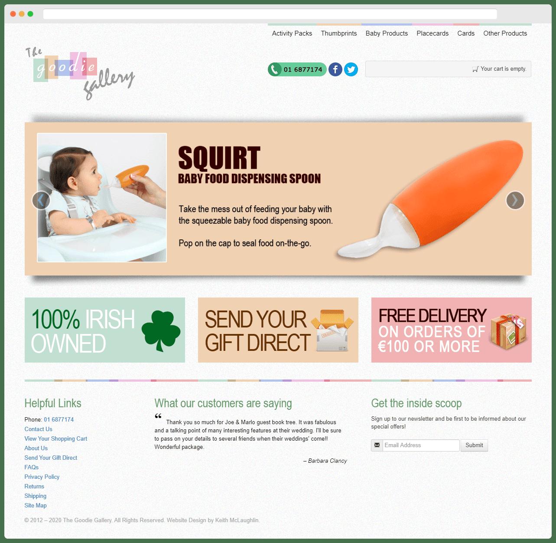 The Goodie Gallery Full Homepage
