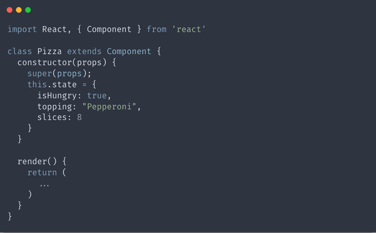 Adding state to our react js component