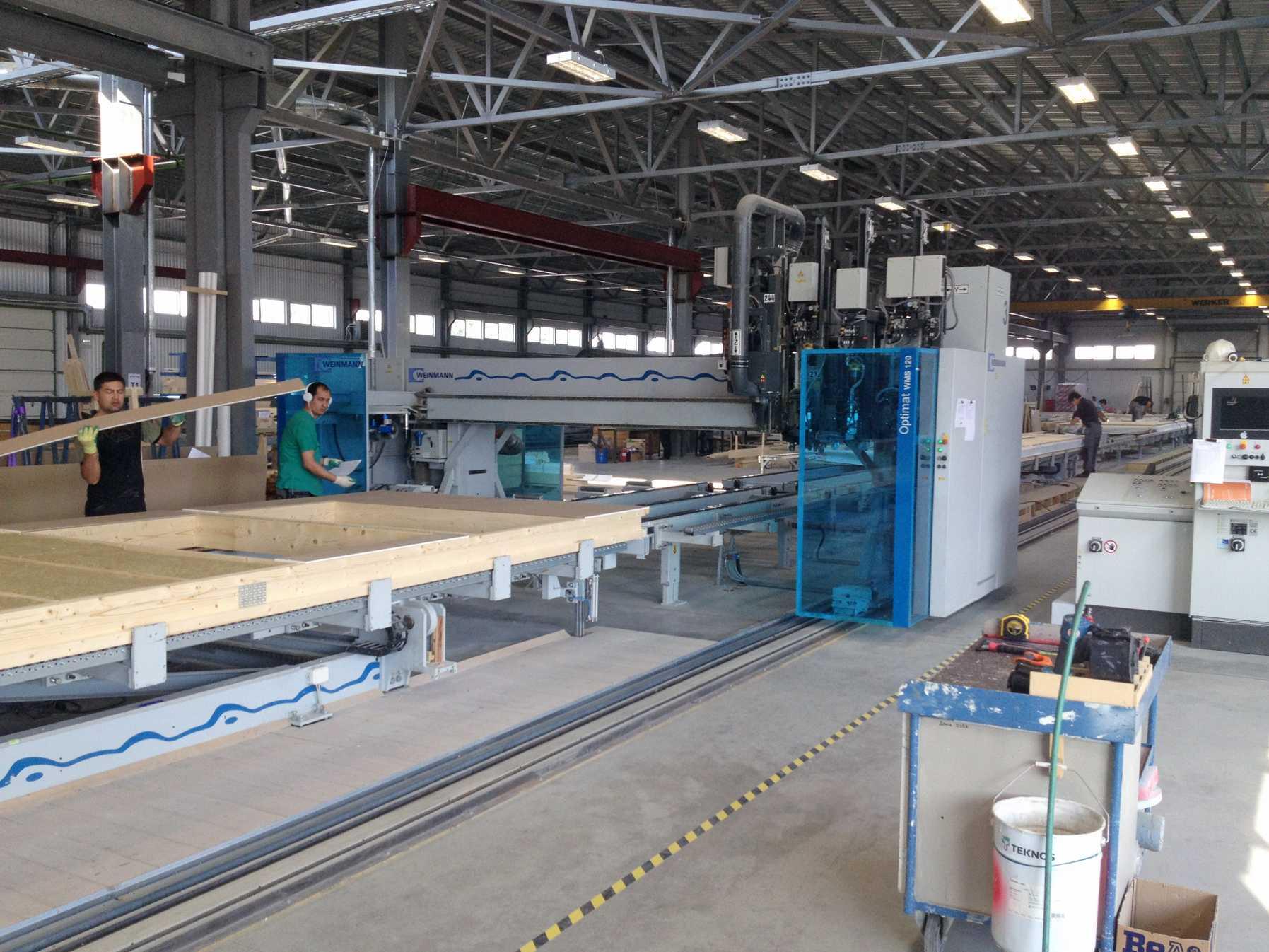 Fabrikken hvor husene produseres