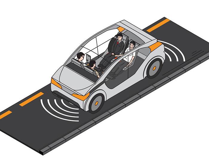 Self driving illustration