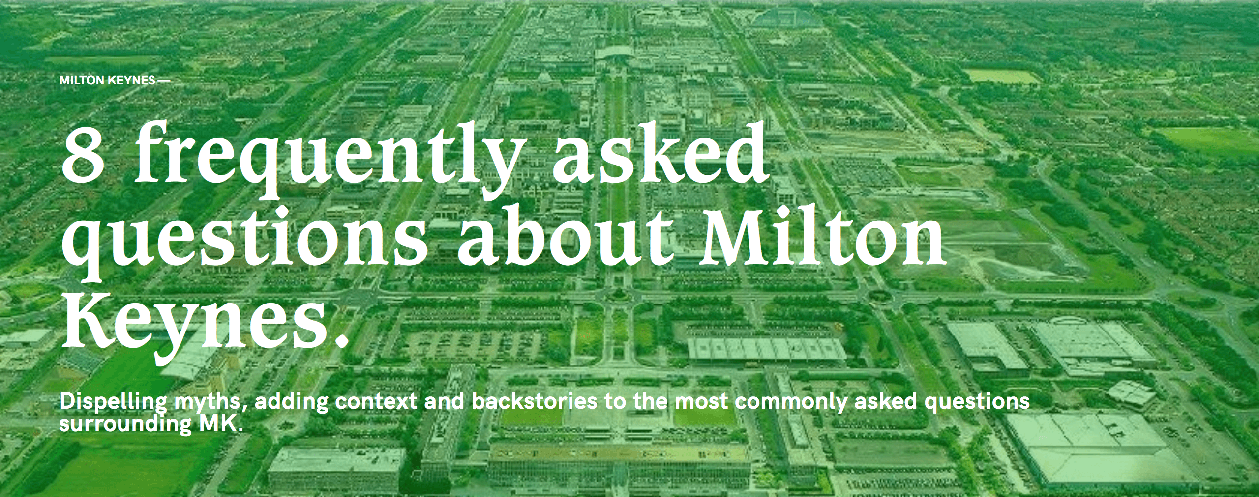 milton keynes frequently asked questions cover image