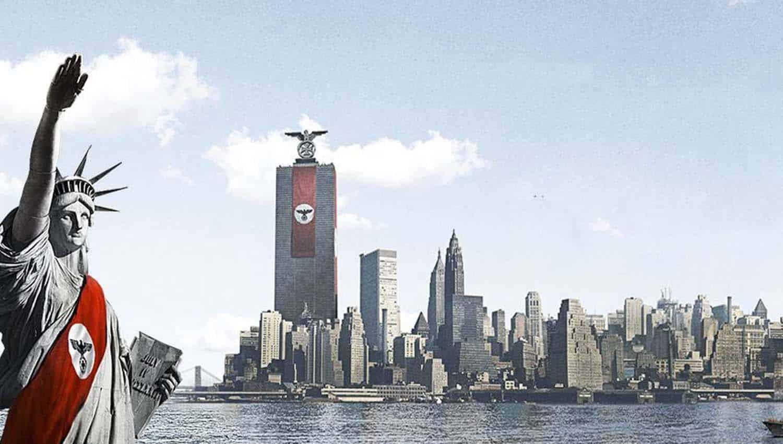 A estatua da liberdade faz saudacao nazista em arte do seriado de Ficção Científica O Homem do Castelo Alto da Prime Video, baseada no livro de Philip K. Dick