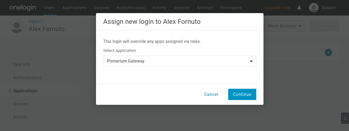 One Login Application Access