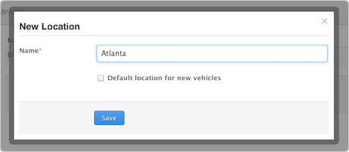 Store vehicle locations in Fleetio fleet management software