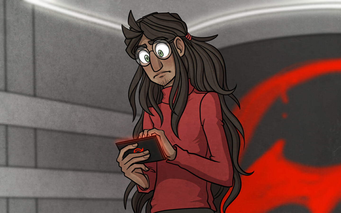 Timaeus looks at his Electro ID pensively.