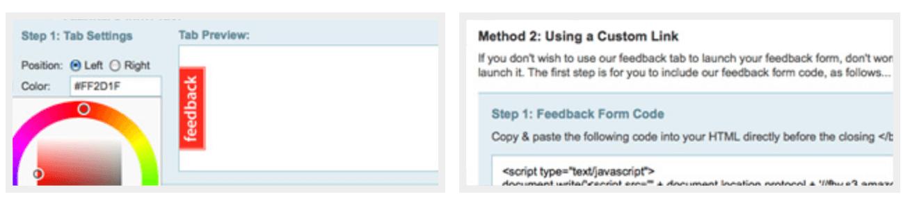 Feedbackify form editor