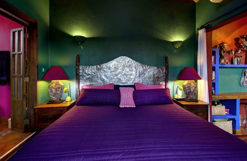 The Headboard for the King-Size bed was handcrafted by Carlos.