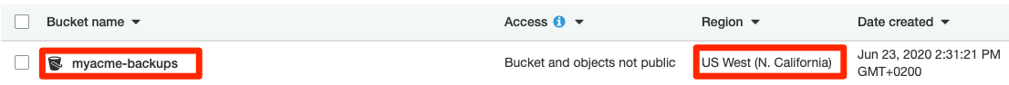 AWS S3 bucket region