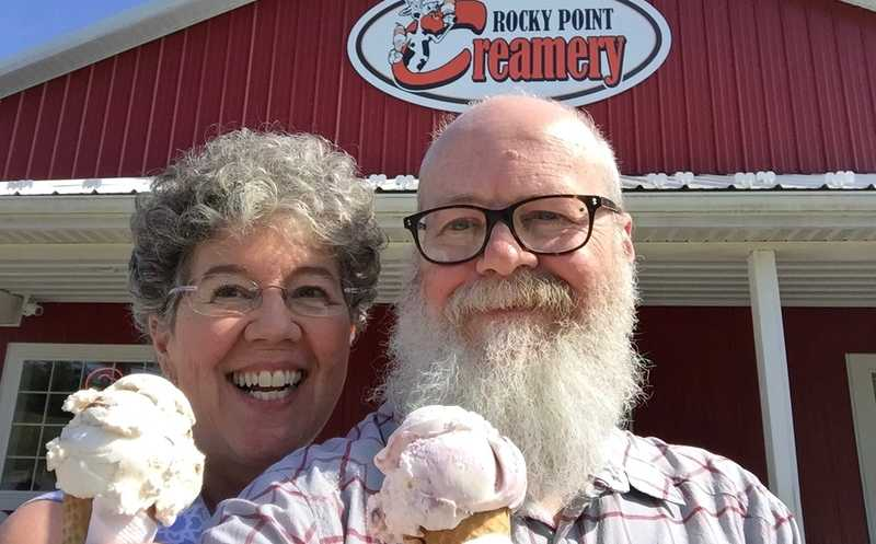 Kim and Gravity at Rocky Point Creamery