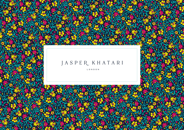 Brand, logo and pattern design for Savile Row tailor, Jasper Khatari