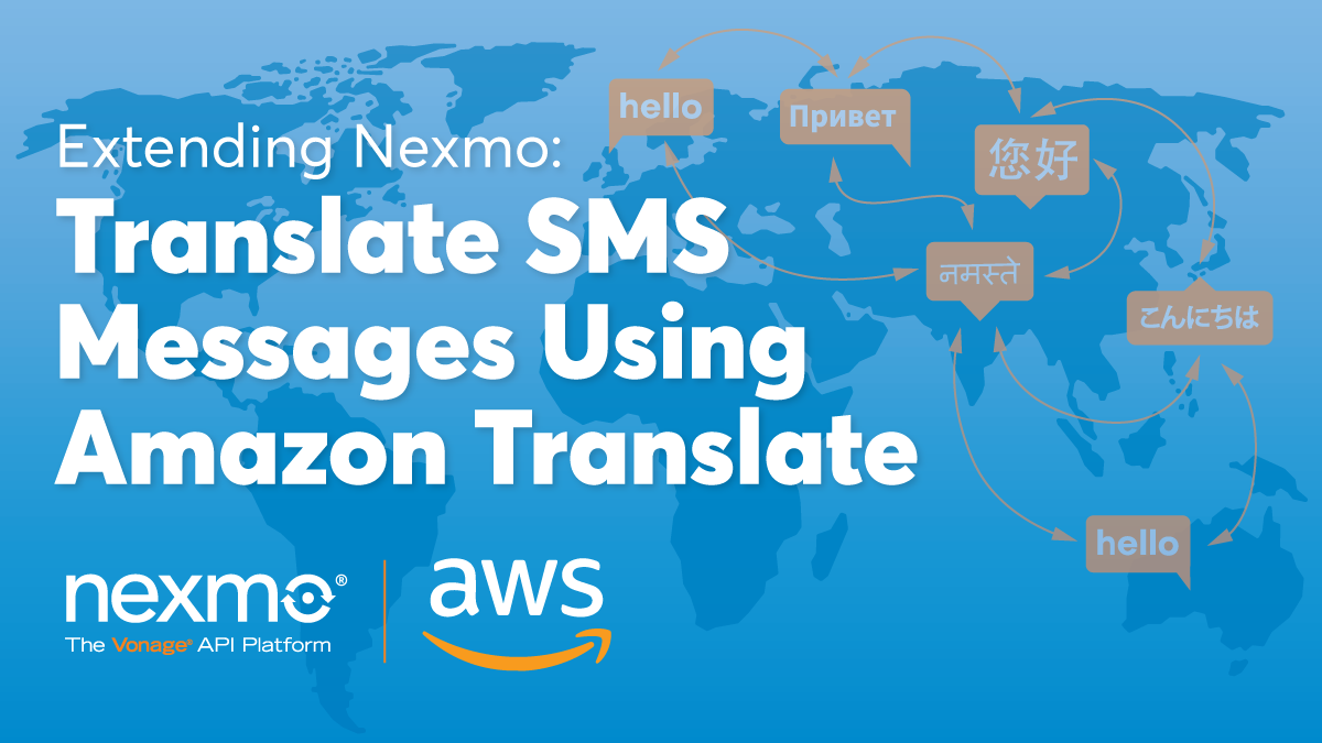 Translate SMS Messages Using Amazon Translate