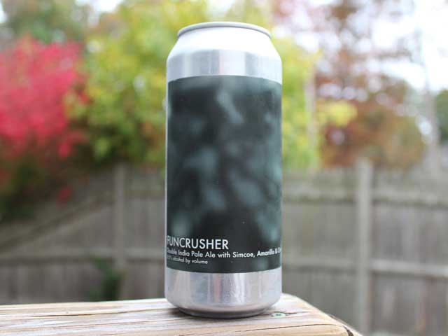 Funcrusher, a Double IPA brewed by Honest Weight Artisan Beer
