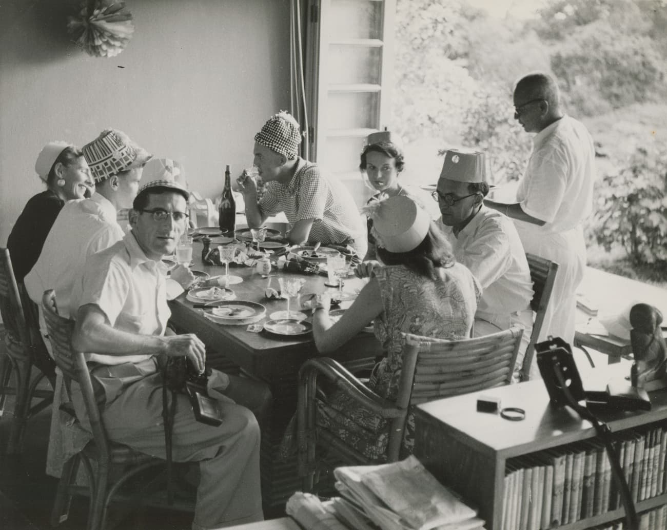 Christmas meal of expatriates, 1953