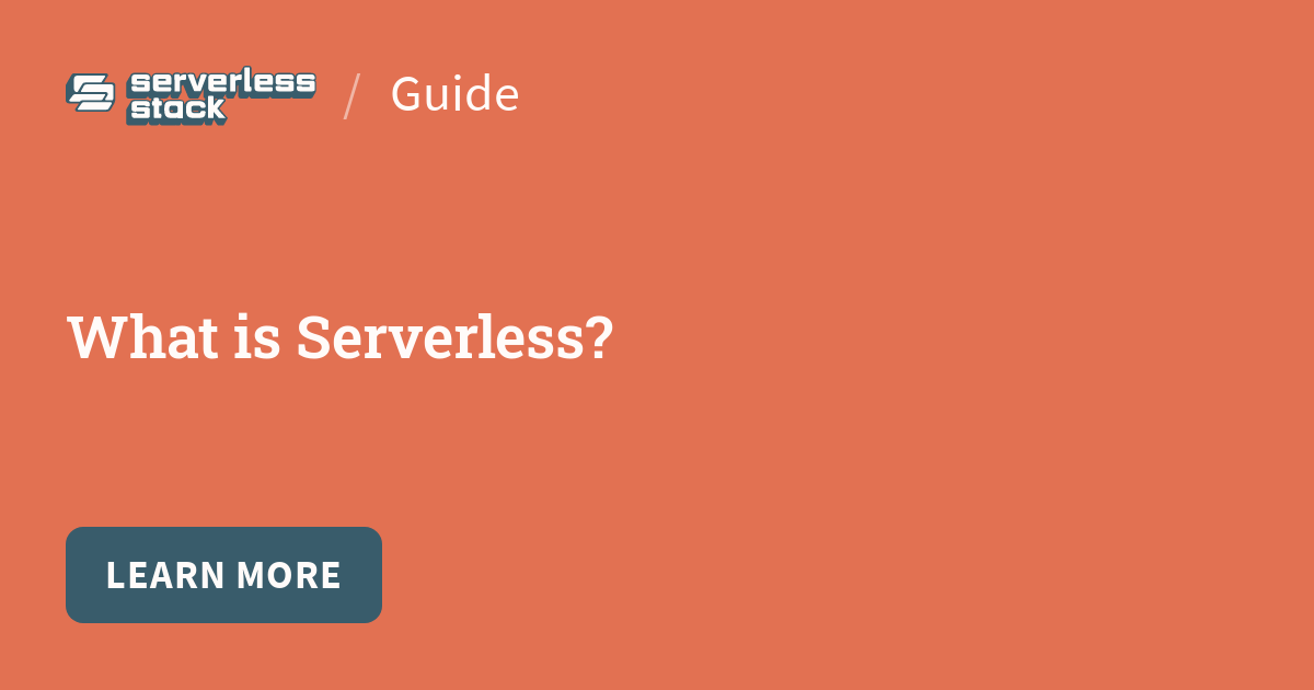 Social card for Serverless Stack chapter