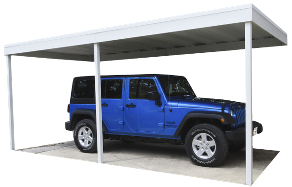 Arrow Wall Attached Steel Carport