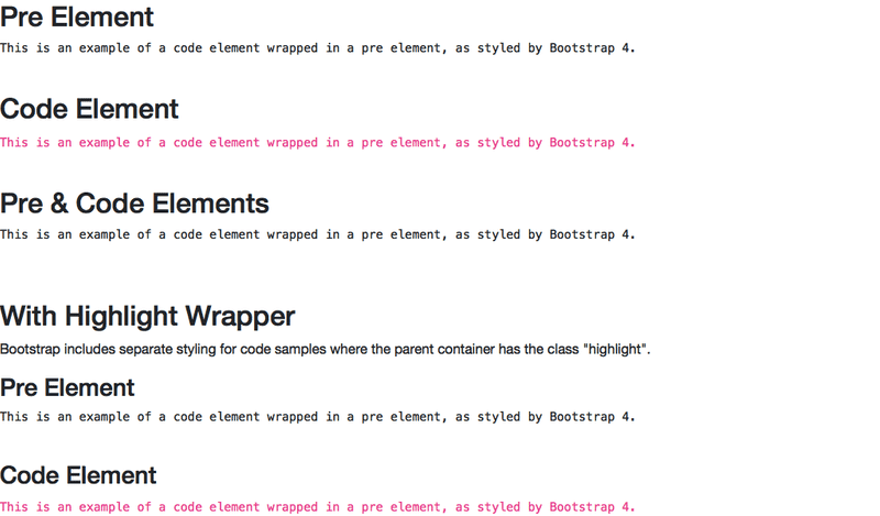 bootstrap4-code-sample